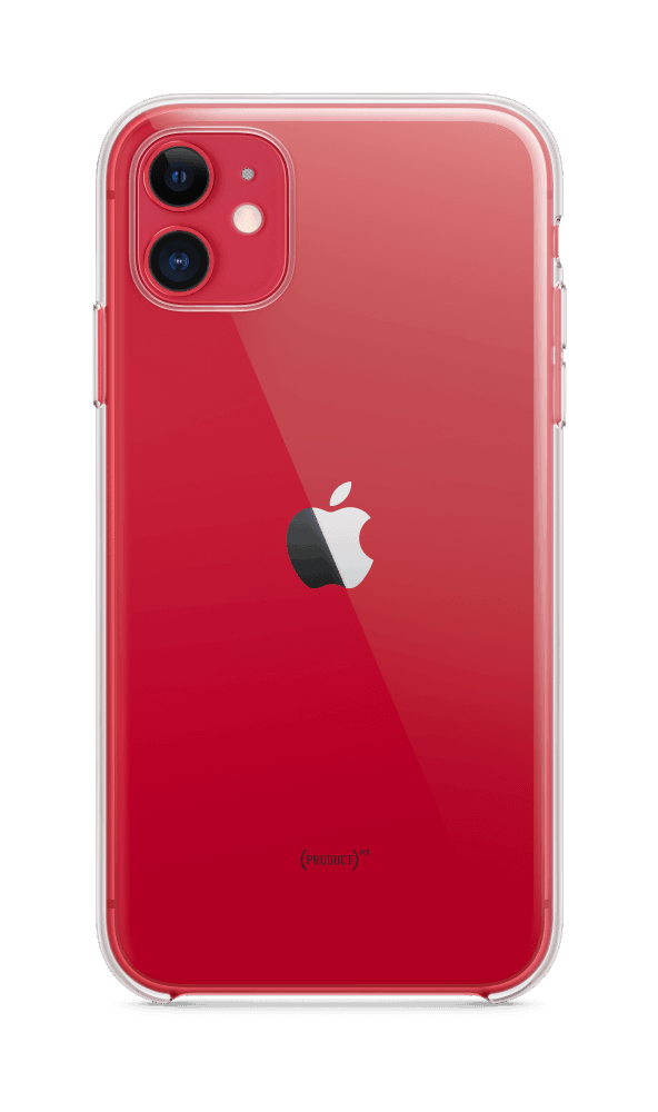 I Phone 11 Red Clear Case Pure Back Screen USEN 1